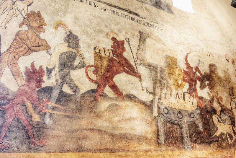 Les fresques de l'église d'Allemans-du-Dropt