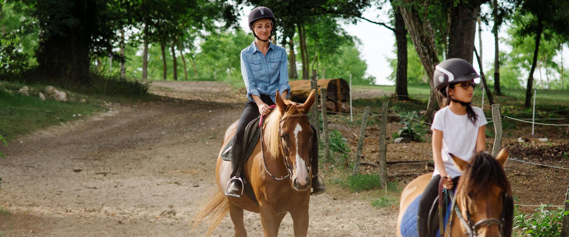 Balade à cheval en Val de Garonne Guyenne Gascogne